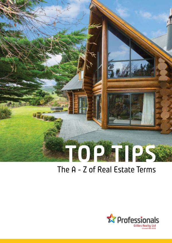 Top Tip Booklets The A - Z of Real Estate Terms WEB