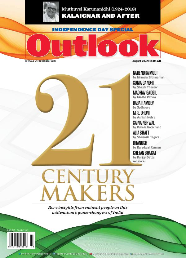 Outlook English - Print Subscribers Copy Outlook English, 20 August 2018