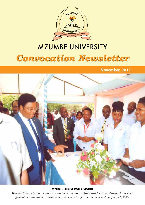 Mzumbe University - 2017 Convocation Newsletter Mzumbe newsletter_final-2e