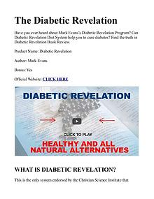 Diabetic Revelation PDF / Guide, Book Free Download