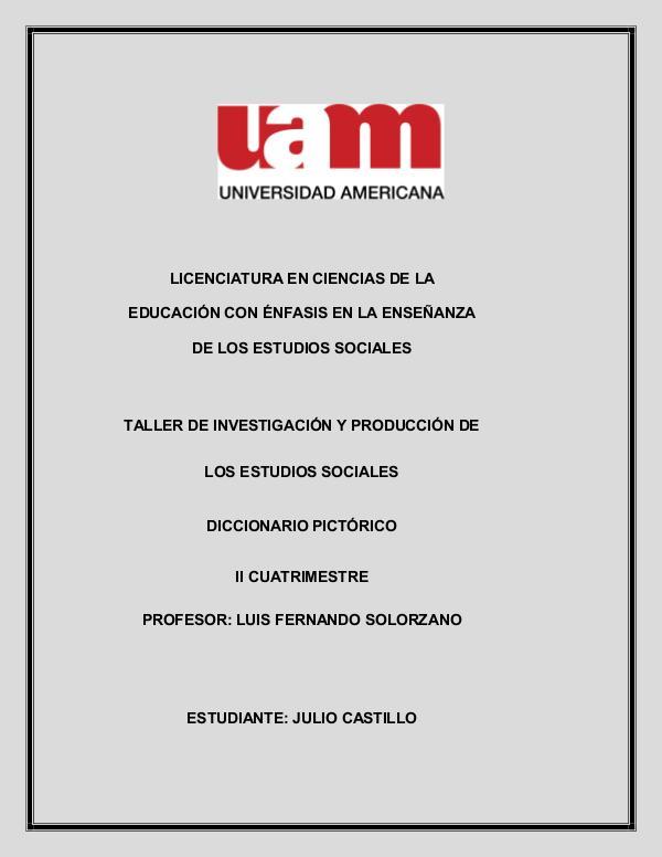 Taller de investigación Diccionario Pictorico Julio Castillo