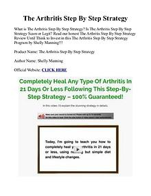 The Arthritis Step By Step Strategy PDF Free Download  Shelly Manning