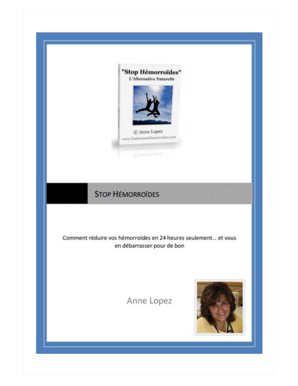 Stop Hemorroides Pdf Livre Ebook Anne Lopez Gratuit