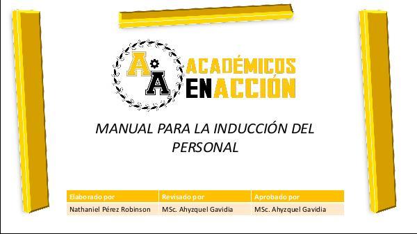 Manual de normas y políticas de inducción, Académicos en Acción Manual de normas politicas y procedimientos Perez