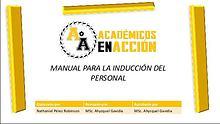 Manual de normas y políticas de inducción, Académicos en Acción