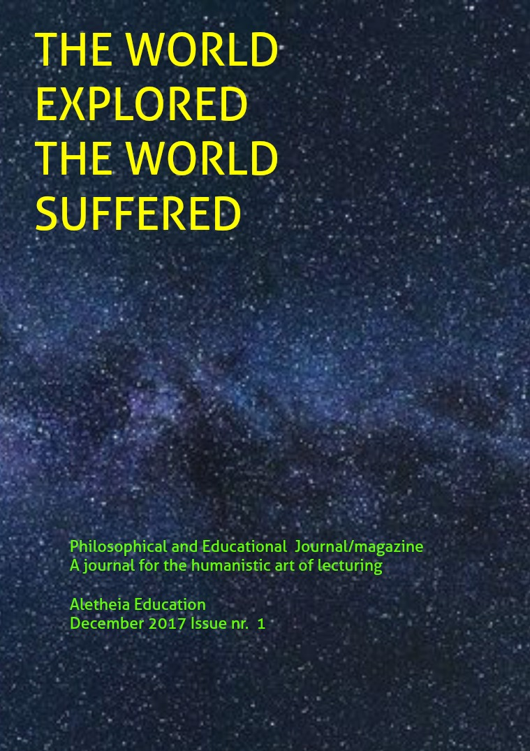 The World Explored, the World Suffered Education Issue nr. 1 December 2017(clone)