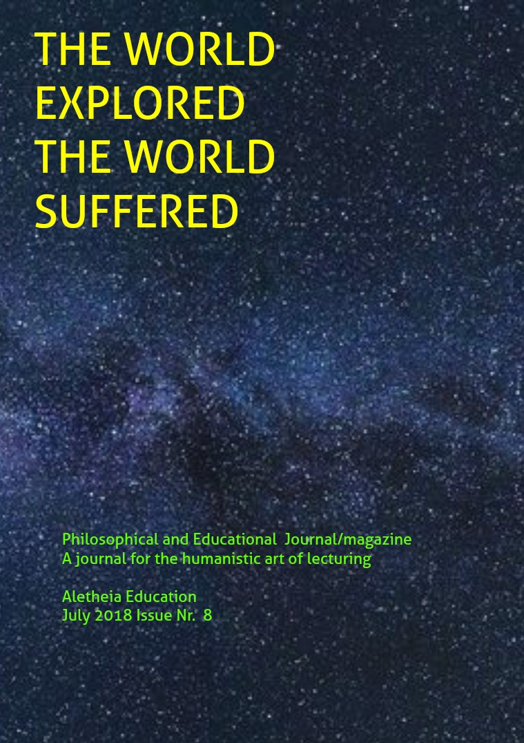 The World Explored, the World Suffered Education Issue Nr. 8 July 2018