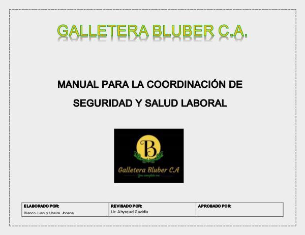 MANUAL PARA LA COORDINACIÓN DE SEGURIDAD Y SALUD LABORAL MANUAL, GALLETERA BLUBER X (1)