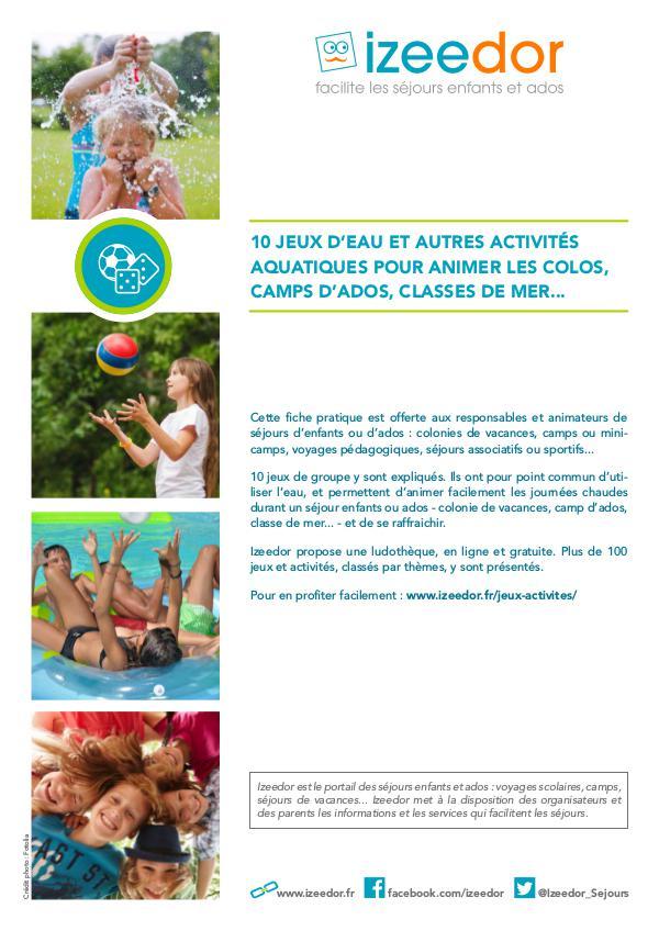 IZEEDOR Jeux d'eau et activités aquatiques