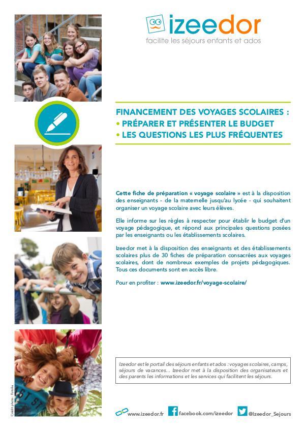 IZEEDOR Préparer le budget d'un voyage scolaire