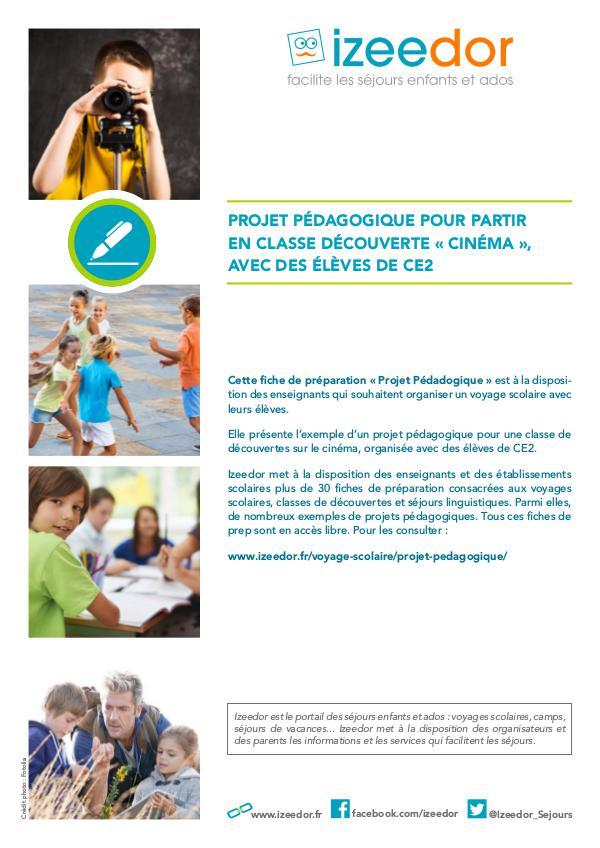 IZEEDOR Projet pédagogique classe cinéma ce2