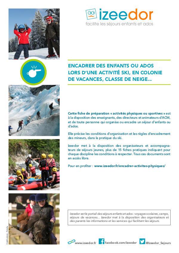 IZEEDOR Les règles pour encadrer des mineurs à ski