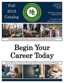 Fall 2018 Course Catalog
