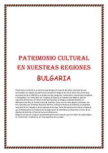 PATRIMONIO CULTURAL DE BULGARIA
