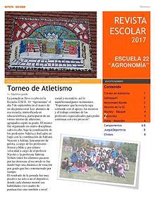 Revista escolar Escuela 22 DE 14 edición 2017