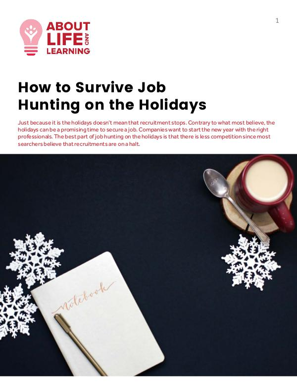 How to Survive Job Hunting on the Holidays 12-Feb-2018