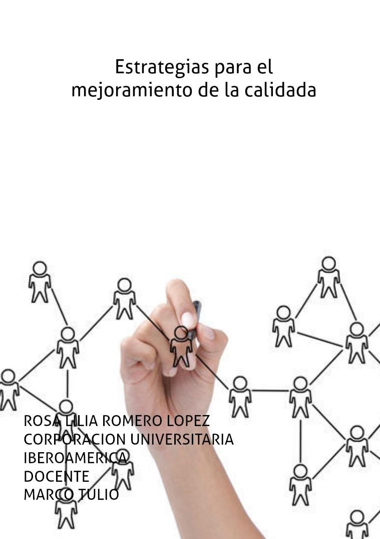 Estrategias para mejorar la calidad CON LAS DISTINTAS GESTIONES EDUCATIVAS PARA EL SER
