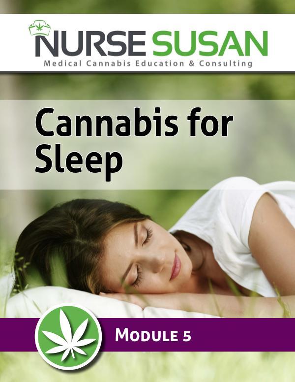 NurseSusan Cannabis Coach Training Module 5 Cannabis for Sleep