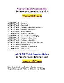 ACCT 567 Education Specialist / acct567.com