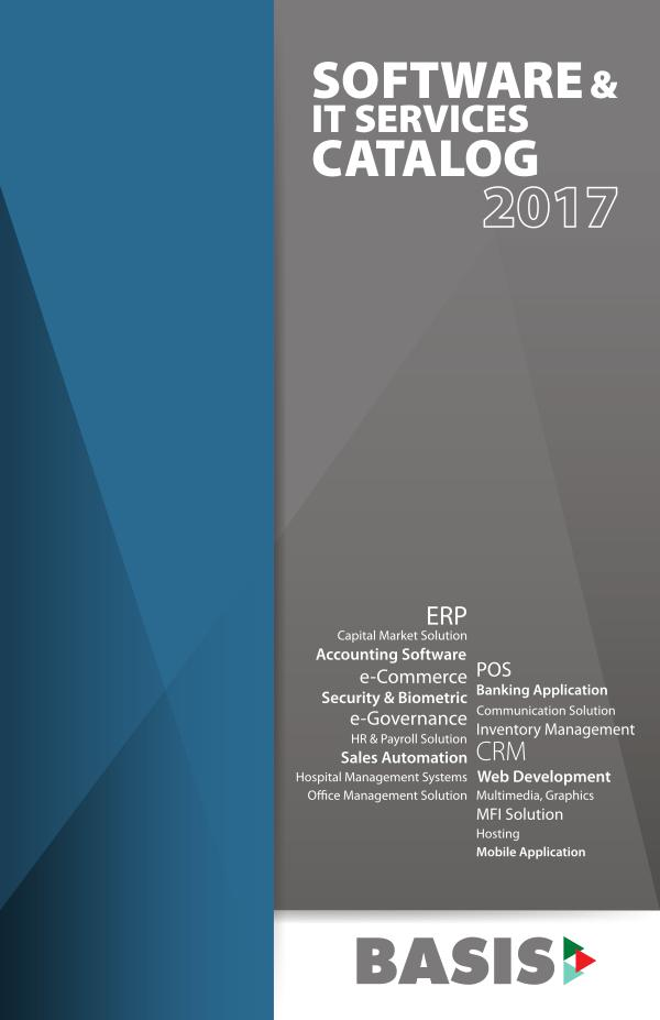 BASIS Software & IT Services Catalog 2017