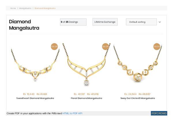 Mangalsutra Diamond Pendant Design Mangalsutra Diamond Pendant Design