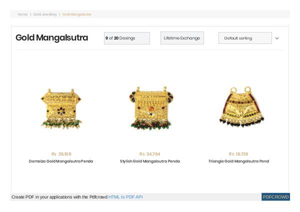 Gold Mangalsutra Gold mangalsutra