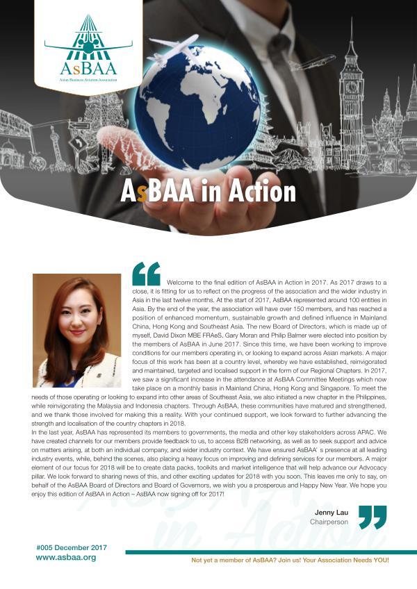 AsBAA in Action-December 2017 AsBAA in Action-December 2017