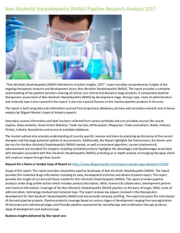 Market Research Non-Alcoholic Steatohepatitis (NASH)