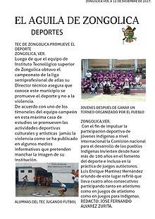 EL ÁGUILA DE ZONGOLICA