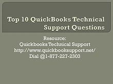 Top 10 QuickBooks Technical Support Questions