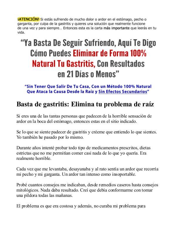 Brenda Anderson: Basta De Gastritis PDF / Libro Descargar Gratis Basta De Gastritis Funciona