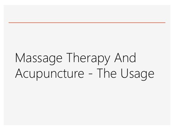 St Albert Physiotherapy Massage Therapy And Acupuncture - The Usage