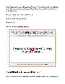 Total Blackout Protocol PDF / eBook Review Free Download