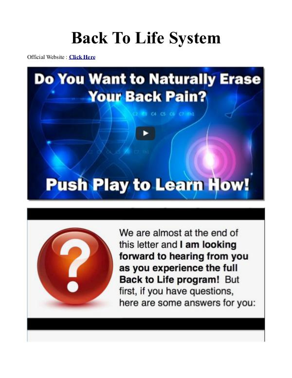Back To Life System Emily Lark / Program PDF Free Download Erase My Back Pain