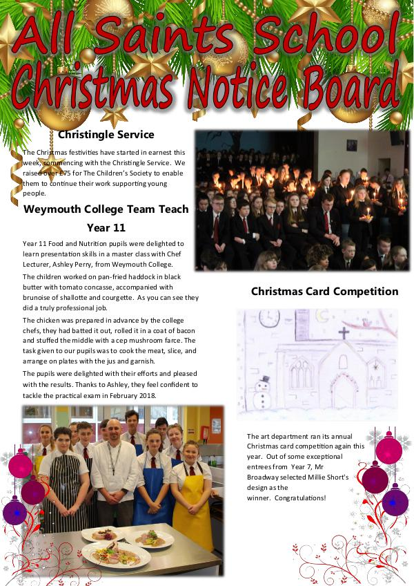 All Saints Newsletter Christmas 2017