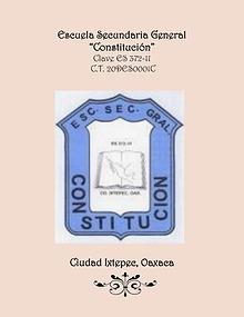 """Nuestra Secundaria """"Constitución"""""""
