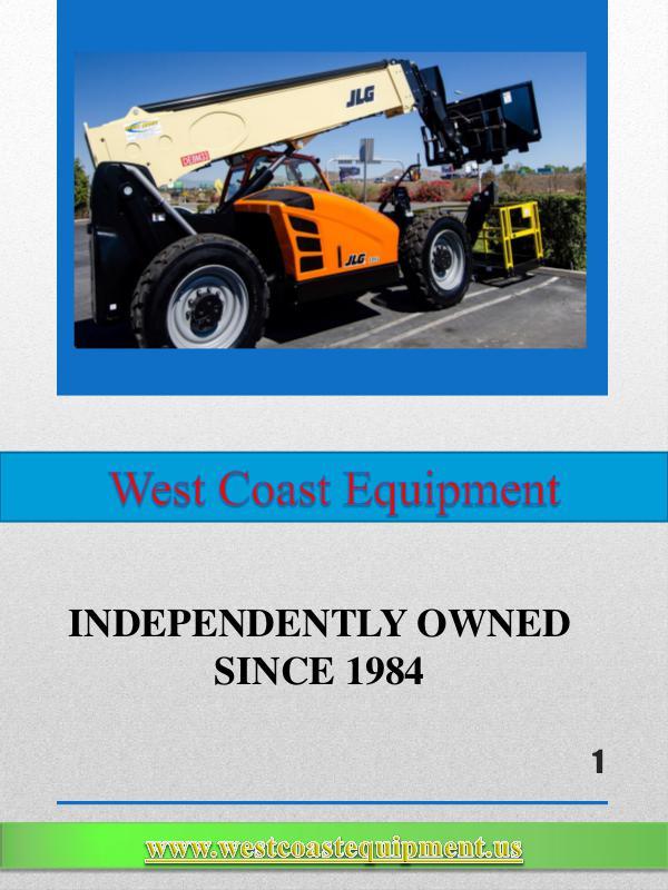scissor lift rental san bernardino West Coast Equipment