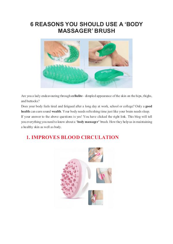 Reasons why 'cotton balls' are a make-up essential 6 REASONS YOU SHOULD USE A 'BODY MASSAGER' BRUSH