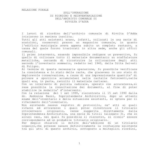 Archivio Storico Comunale - Indici