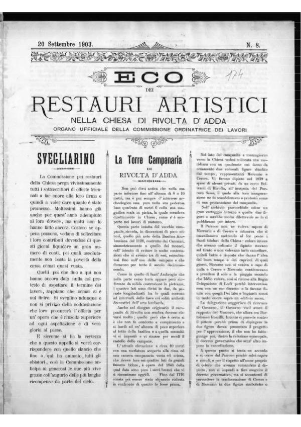 L'Eco dei restauri Settembre 1903