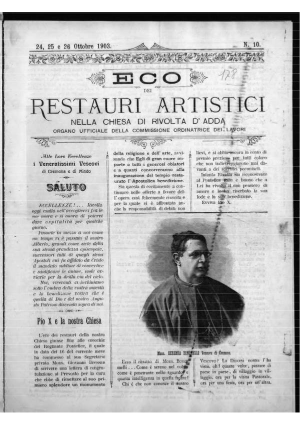 L'Eco dei restauri 24 ottobre 1903