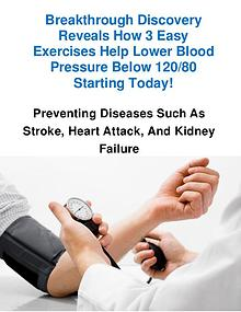 Natural Blood Pressure Exercise Program Download