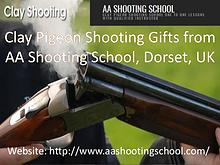 Get Clay pigeon shooting gifts from AA Shooting School, Dorset, UK