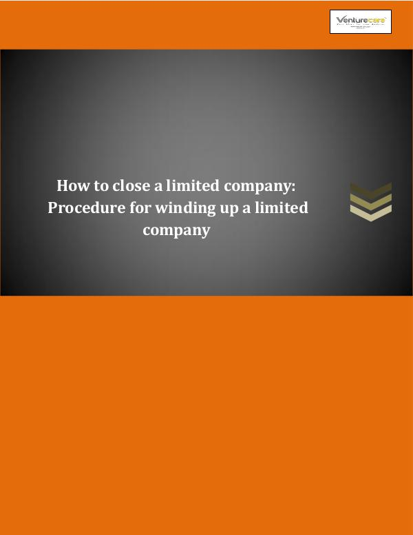 Business Plan - Venture Care How to close a limited company Procedure for win