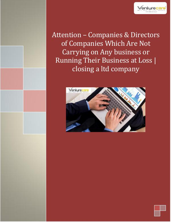 Business Plan - Venture Care 2.Attention – Companies & Directors of Companies W