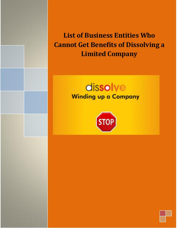 Business Plan - Venture Care List of Business Entities Who Cannot Get Benefit
