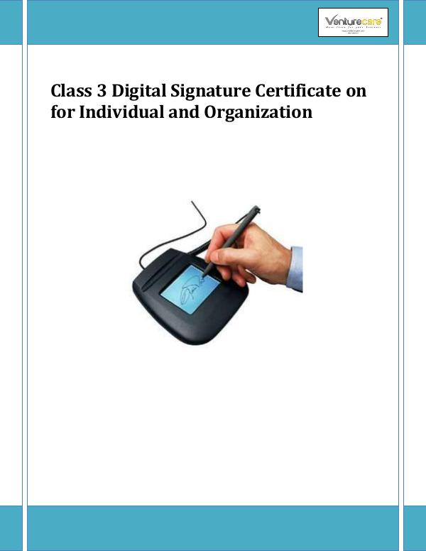 Class 3 Digital Signature Certificate for Indivi
