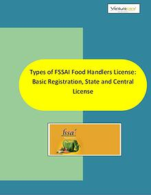 Types of FSSAI Food Handlers License: Basic Registrati - Venture Care