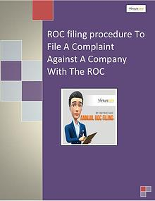 ROC filing (registrar of companies) | Venture Care