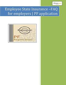 Venture Care -  PF application & esi online Registration